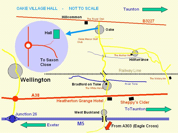 oake hall SKETCH ROUTE MAP